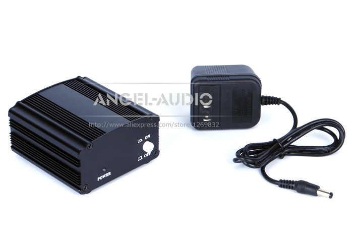 Бесплатная доставка 48 V DC Phantom Питание для конденсаторный микрофон компьютерная вокальный Запись микрофон для студии, вещания, 5 лет гарантии