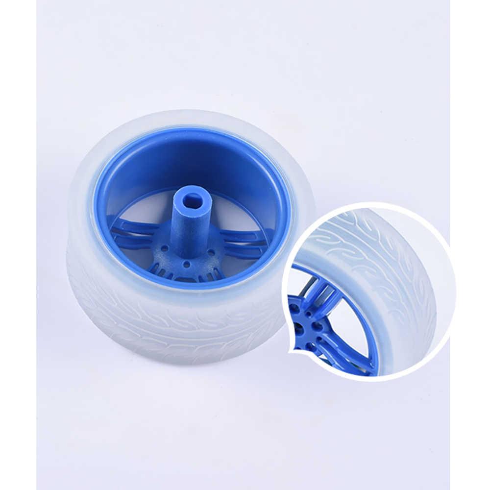 1 шт. игрушка на колесах DIY игрушка мини Интеллектуальный автомобиль робот транспортные средства резиновый чехол Пластиковые Колеса Шины один размер RC автомобиль часть и аксессуары