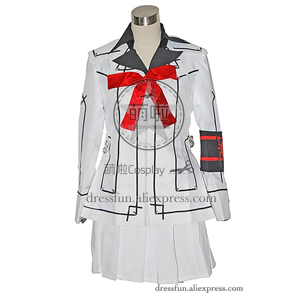 Vampire Knight Cosplay Girl Kurosu Yuuki Costume White Uniform Jacket Skirt Outfits Fashion Party Fast Shipping Popular