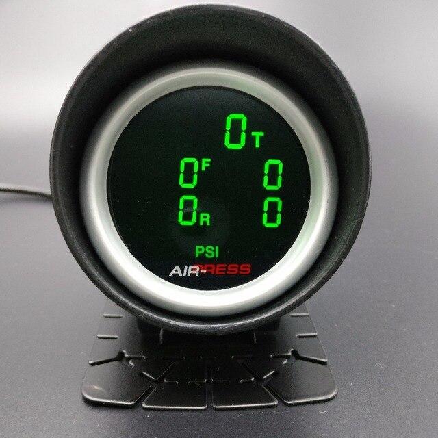2 polegada 52mm lcd cinco pressão ar calibre barra psi ar suspensão passeio de ar com 5 peças sensores elétricos