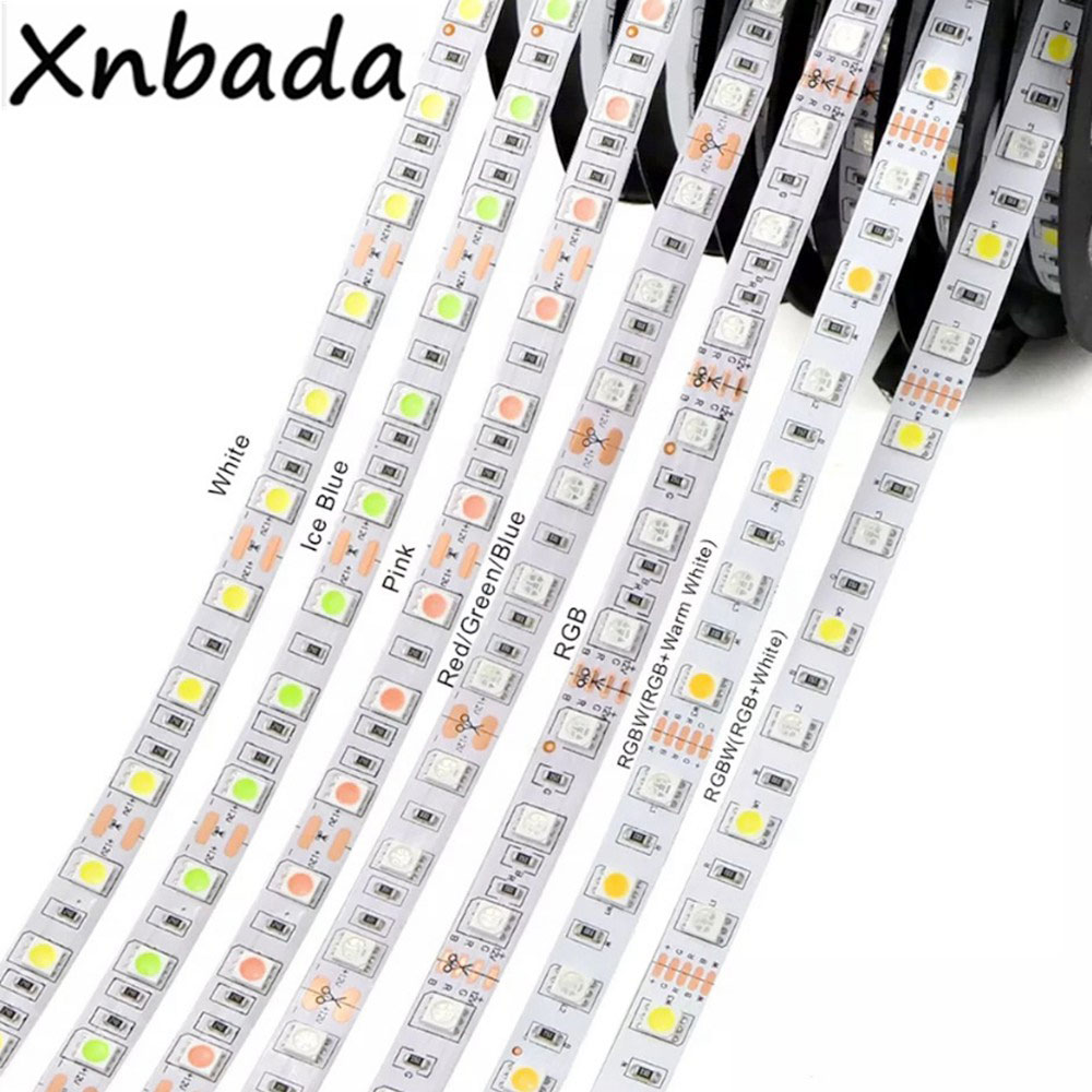 Led Strip 5050SMD Flexible Led Light Highlight 60Leds/m 5m/Lot White/Warm Withe/Green/Blue/RGB/RGBW/RGBWW Led Strip DC12V