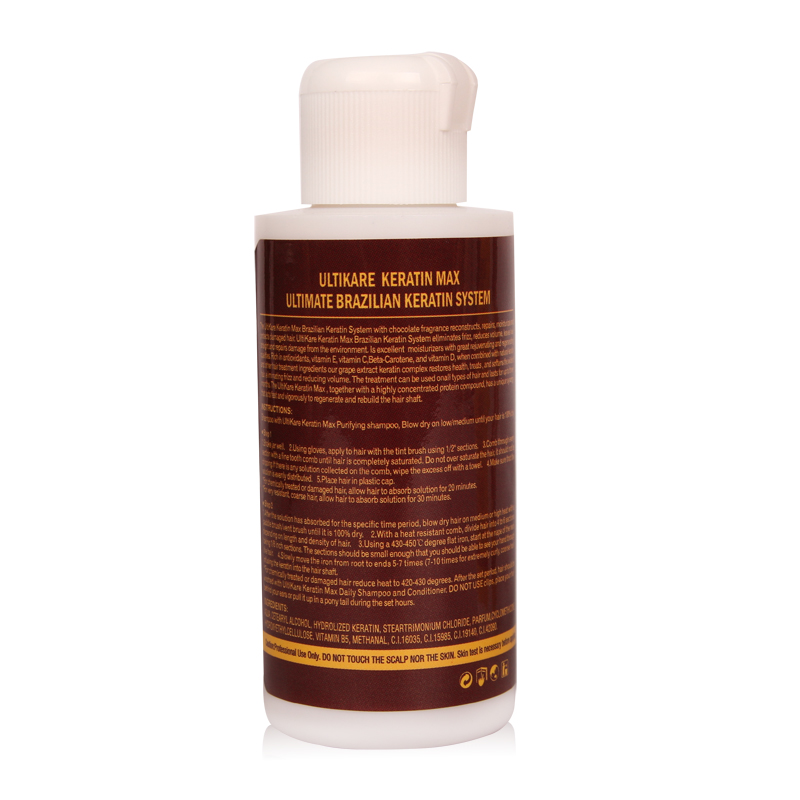 Купить с кэшбэком Keratin Hair Treatment 12% Formaldehyde 100ml Brazilian Keratin Moisturizing Treatment For Hair Care Frizzy hair