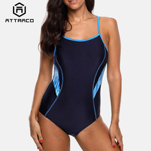 Attraco One Piece Women Sports Swimwear Swimsuit Backless Beachwear Bathing Suit Monikini Bikini