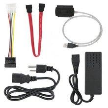 SATA/PATA/IDE привод на USB 2,0 адаптер конвертер кабель для жесткого диска HDD 2,5 «3,5» с внешним адаптером питания переменного тока