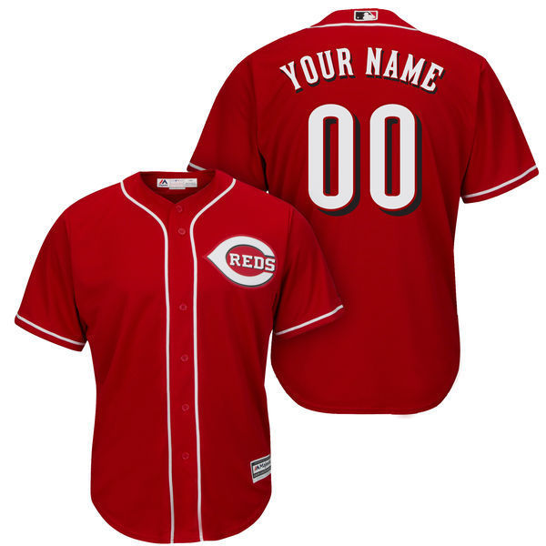 MLB Mens Cincinnati Reds Baseball White Cool Base Custom Jersey