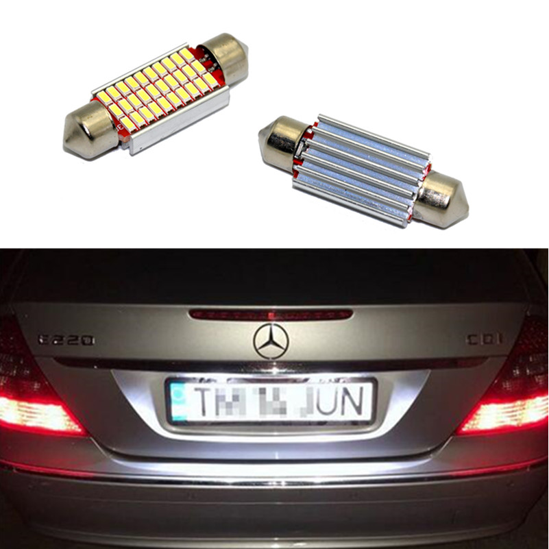 2x LED LICENSE NUMBER PLATE LIGHT MERCEDES BENZ CANBUS