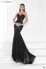 цены на Women formal wear 2015 Tarik ediz 92598 mermaid evening dress lace sweetheart vestidos festa longo black evening gowns  в интернет-магазинах