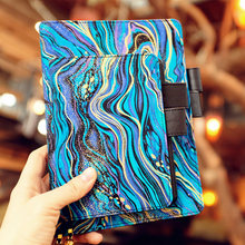 Blue Mystery Beautiful Journal Fabric Cover Notebook Replaceable Papers Travel Study Diary Business Stationery Gift