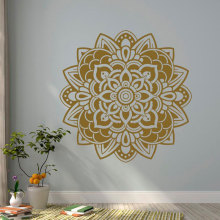 Mandala Wall Sticker Vinyl Art Home Decor Room Studio Murals Yoga Lotus Flower India Decals Removable Interior Design YD84