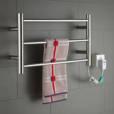 Hot Heated Towel Rail Stainless Steel Electric Warmer Bathroom Racks Holder