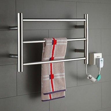 Hot Vendita Scaldasalviette, elettrico in acciaio inox scaldasalviette bagno rastrelliera porta asciugamano holder accessori bagno fissato al muro