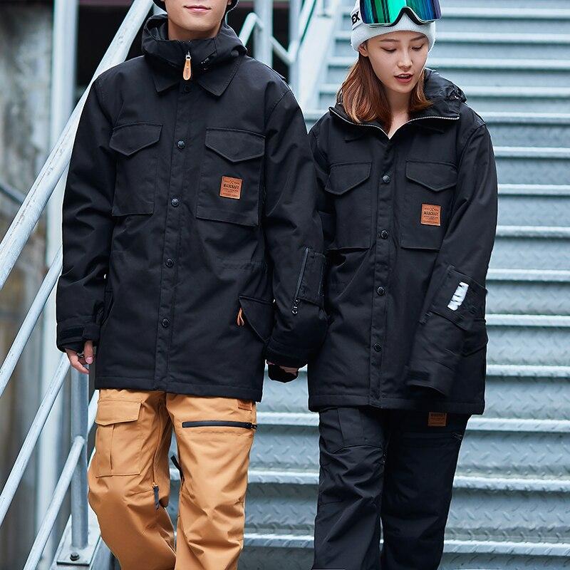 Новый Открытый брендов кастрировать лыжный костюм мужские зимние m65 зимние куртка катания на лыжах и сноуборде ветрозащитная водонепрониц
