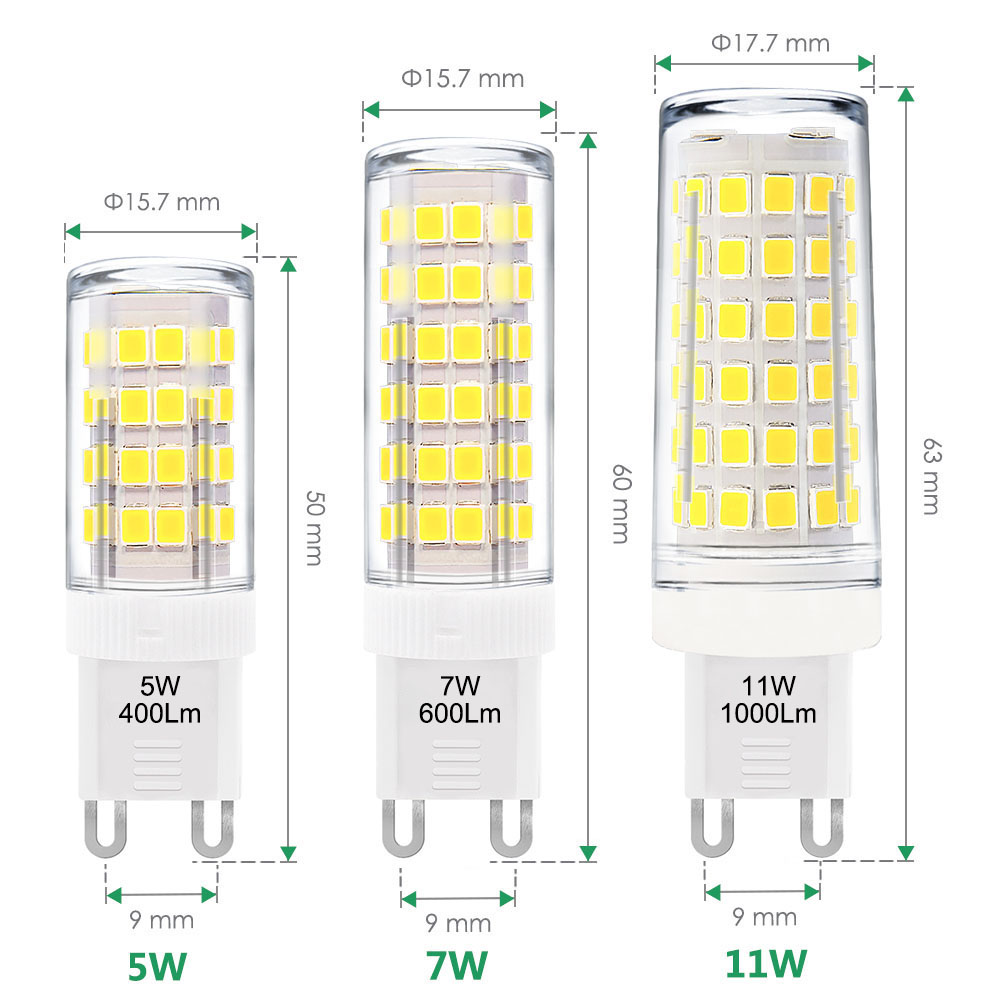 Cool White 6000K 5W G9 GU9 <font><b>LED</b></font> Capsule Light <font><b>Bulbs</b></font> Small Corn Lamp <font><b>Bulbs</b></font> AC110-120V AC220-240V Replace 40W G9 Halogen <font><b>Bulbs</b></font> image