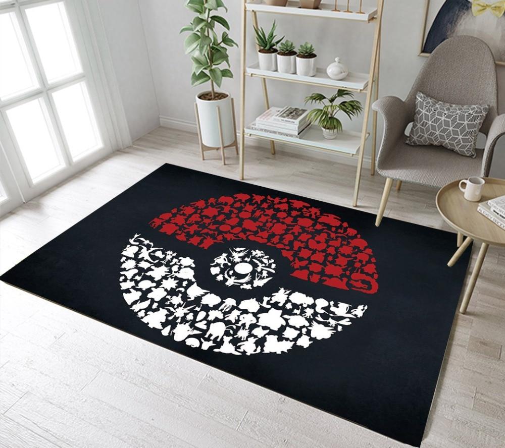Tapis Déco Chambre enfant Pokeball Pokemon