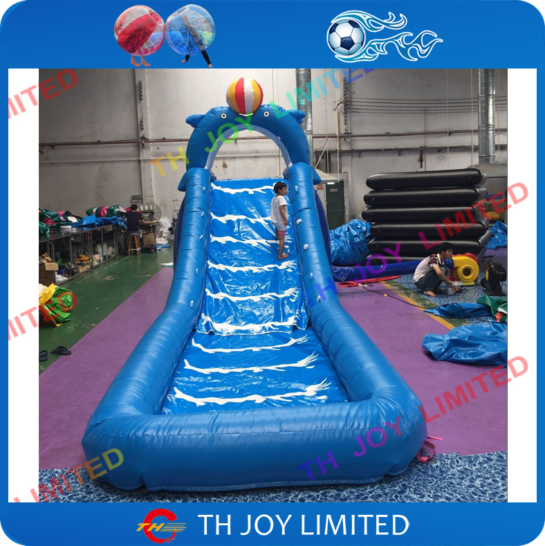 Free Shipping!9*2*4mH Inflatable Dolphin Slide With Pool For Kids Fun Play,backyard  Inflatable Water Slide Inflatable Pool Slide In Toy Tents From Toys ...