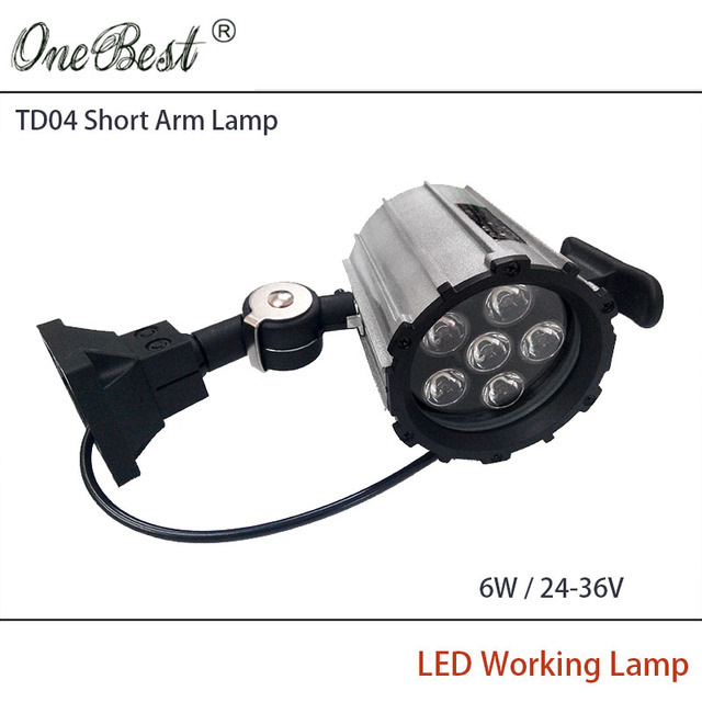 HNTD 6W 24V/36V LED Short Arm Fold CNC Machine Tools Worklight Equipment Lamp LED work Waterproof Spotlights IP65 Free shipping