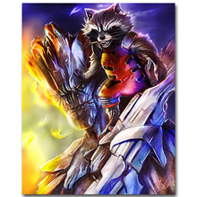 ROCKET – Guardian of The Galaxy Art Silk Fabric Poster Print 13×16 24x30inch Superheroes Movie Picture for Room Wall Decor 39