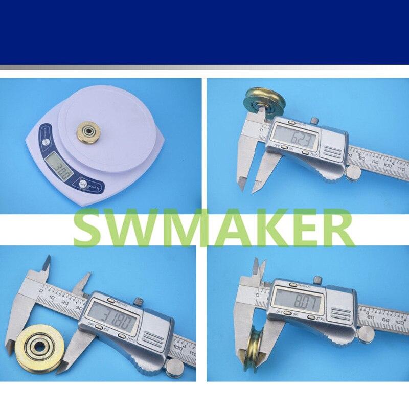 6.3*32*8mm metal bearing pulley, hoisting wheel, steel wire rope ...