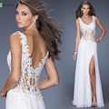 Don's Bridal 2016 Hot Sale Chiffon Side Split Evening Dress Spaghetti Straps Sweetheart Summer Formal Evening Gown