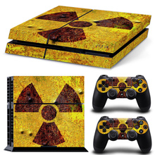 Biohazard Umbrella Sticker Cover Wrap Protector Skin For Sony Playstation 4 Console & 2PCS Controller Skin Decal For PS4