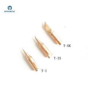 Image 3 - PHONEFIX JBC T210 lutownica żelazne wiertło T SK T I T IS stożkowy nóż wygięty stożkowy specjalistyczny wymienny mała końcówka do spawania końcówka