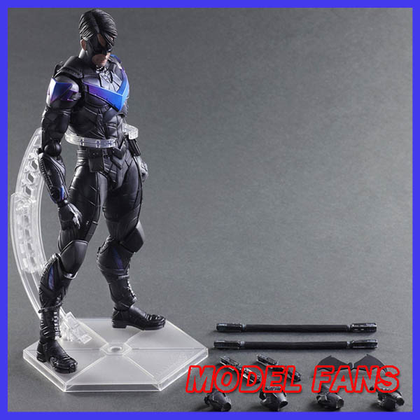 MODEL FANS Play Arts Kai Nightwing Batman Arkham Knight Variant Play Art KAI PVC Action Figure Night wing PLAY ART 25cm Doll Toy playarts kai batman arkham knight batman blue limited ver superhero pvc action figure collectible model boy s favorite toy 28cm
