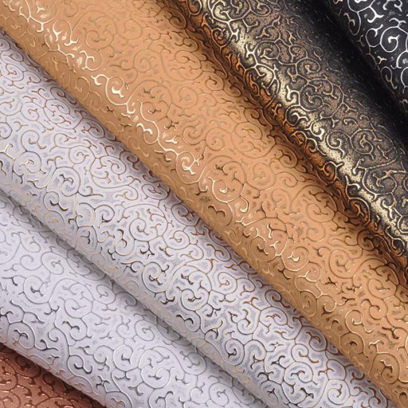 100x135cm Pvc Synthetic Embossed Faux Leather Fabric