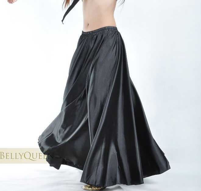 360 540 720 Full Circle Satin Long Skirt Adult Belly Dance Costumes Female Tribal Ballroom Dance Dresses/Famenco Costumes B-6829
