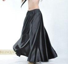 Traje de dança do ventre feminino, traje de dança do ventre, vestido longo de cetim com círculo completo, 360, 540 b 6829