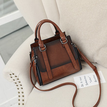 2019 Vintage Leather Ladies Top-HandBags Women Messenger Bags Totes Designer Crossbody Matte Female Shoulder Bag Casual