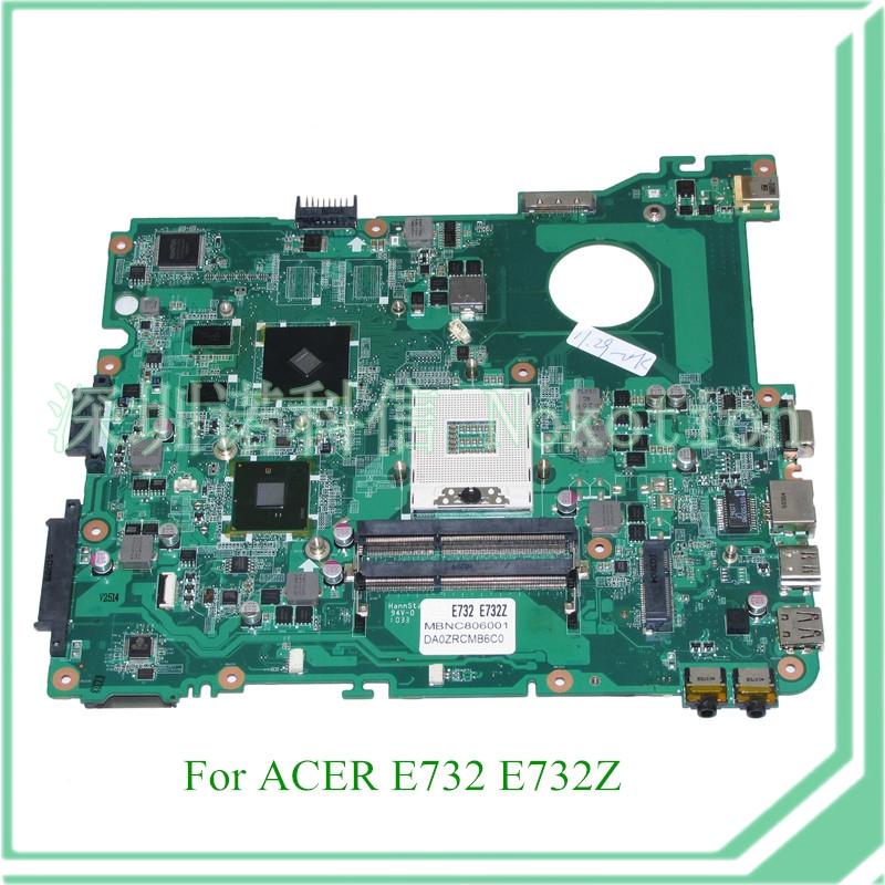 NOKOTION MB.NC806.001 DA0ZRCMB6C0 REV C MBNC806001 Laptop motherboard For acer aspire E732 E732Z HM55 DDR3 ATI HD 5470 mb psm06 001 mbpsm06001 for acer aspire 4745 4745g laptop motherboard hm55 ddr3 ati hd5470 512mb discrete graphics mainboard