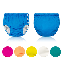 new Baby Diapers Washable Reusable Children Swim Nappies Grid/ Cotton Cloth Diaper Elastic Baby Cloth Nappy Swimming Pool Pants new baby diapers washable reusable nappies grid cotton training pant cloth diaper 0 3y x16