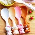 Free Shipping 1pcs Cartoon PP Hello Kitty Rilakkuma Bear Rice Spoon  Paddle Meal Spoon Novelty Tableware Cooking Tools KRC15067