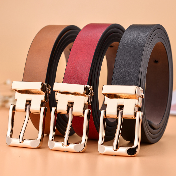Hot Sale New Kids Belt Strap Hight Quality Luxury Brand Fashion Pu Leather Children Belt Boys/girls Pin Buckle Pants Belts 2.2cm