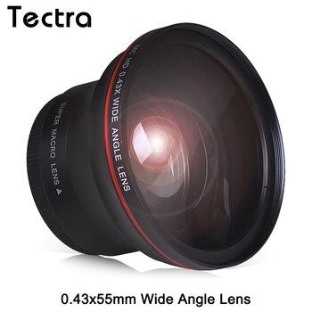 55 мм 0.43x профессиональный HD широкоугольный объектив с макросъемкой для Nikon D3400 D5600 для камер Sony Alpha