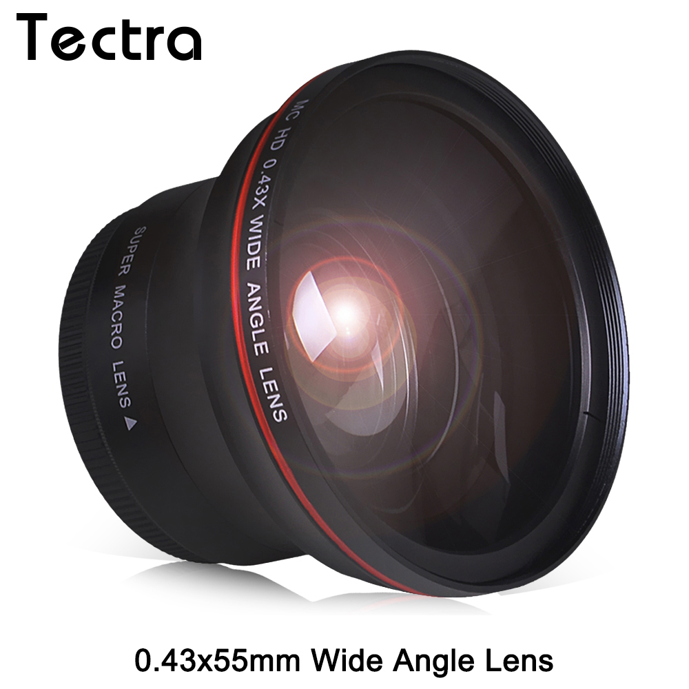 55MM 0.43x Professional HD Wide Angle Lens w/Macro Portion for Nikon D3400 D5600 for Sony Alpha Cameras image
