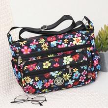 цена на Floral Shoulder Bag Rural style Cloth Messenger Bag Sweet Lady Light Crossbody Bag for Women Color Soft Hobos More Zippers Bags