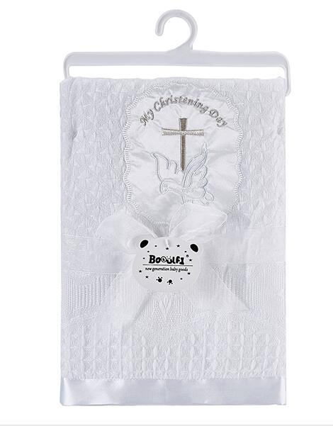 Gooulfi крестильное детское одеяло s Белый для крещения новорожденных обертывание одеяло мягкие детские акриловые Новорожденные Детская шаль одеяло для новорожденных - Цвет: 561052