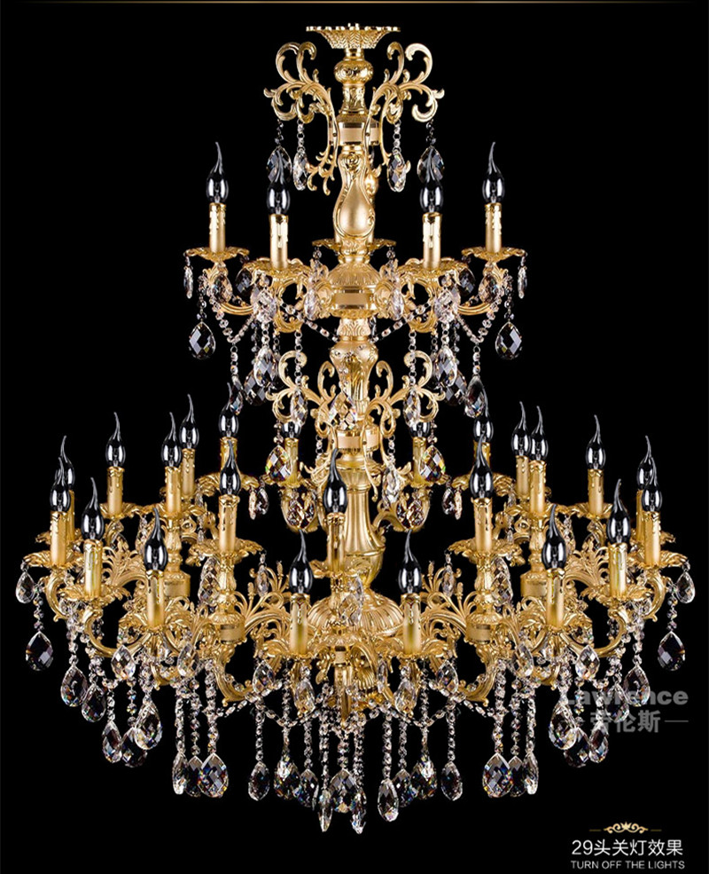 Online buy wholesale chandelier crystal large from china project antique 29 head gold led chandelier crystal droplight parlor foyer hotel large vintage candle arubaitofo Image collections
