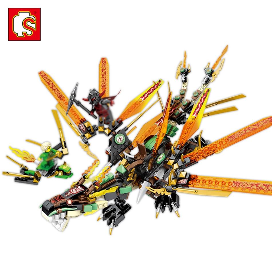 цена Sembo Dragon Knight Armor Figure Building Block Toys Compatible Legos Ninjago Bricks Gift Toy For Children Education Blocks Toys онлайн в 2017 году