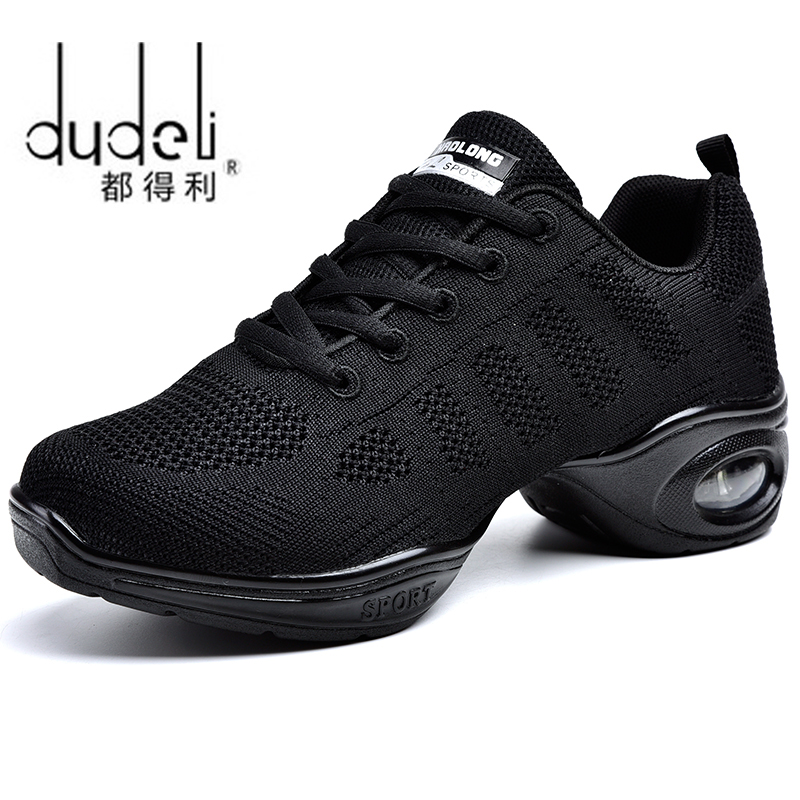 DUDELI New Soft Outsole Breath Dance Shoes Women Sports Feature Dance Sneakers Jazz Hip Hop Shoes Woman Dancing Shoes