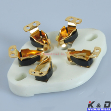 где купить 5PCS 5Pin Gold Ceramic Tube Socket fr 807 27 37 56 76 46 FU7 24 Valve U5A Chassis дешево