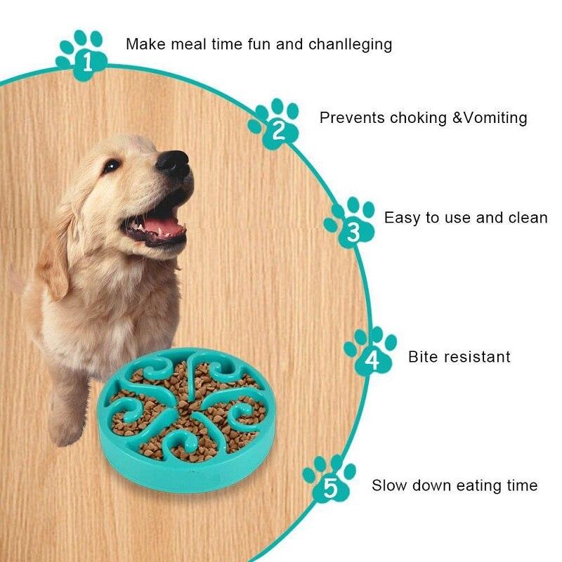 Eğlenceli Pet Köpek Besleme Yemek Kasesi Yavru Yavaş Aşağı Yeme
