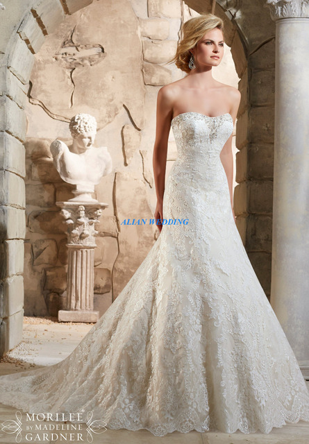 Vintage Wedding Dresses Nyc Lace Bodice Vestidos De Novia Strapless Beading Bridal Gowns Solomon Elegant Free