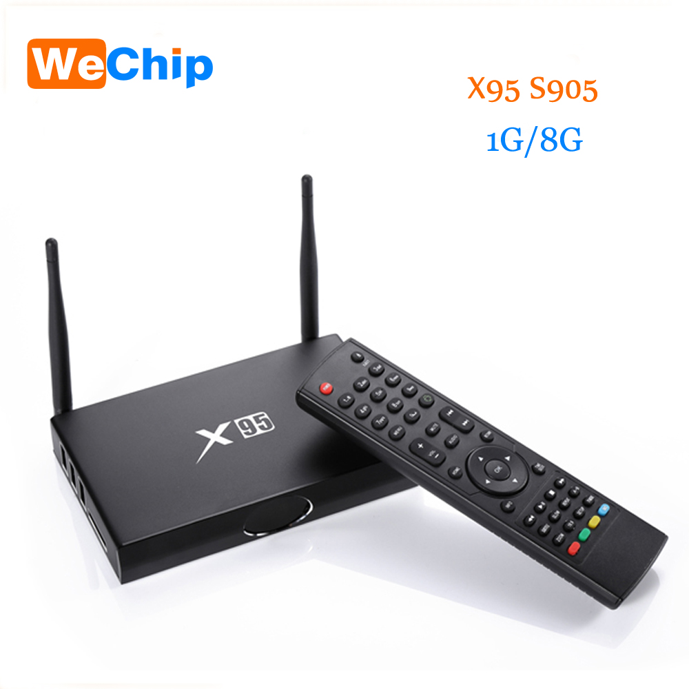New X95 TV Box Amlogic S905 Quad Core Android 5.1.1 Wifi Bluetooth 4.0 1G 8G Set Top Box+Mini i8 Remote Controller Keyboard mx plus amlogic s905 smart tv box 4k android 5 1 1 quad core 1g 8g wifi dlna потокового tv box