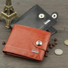 Black/Brown Artificial Leather Hasp Short Wallet Coin Pocket Purse Card Holder Men Wallets Money Cartera Hombre Bag Male Clutch цены онлайн