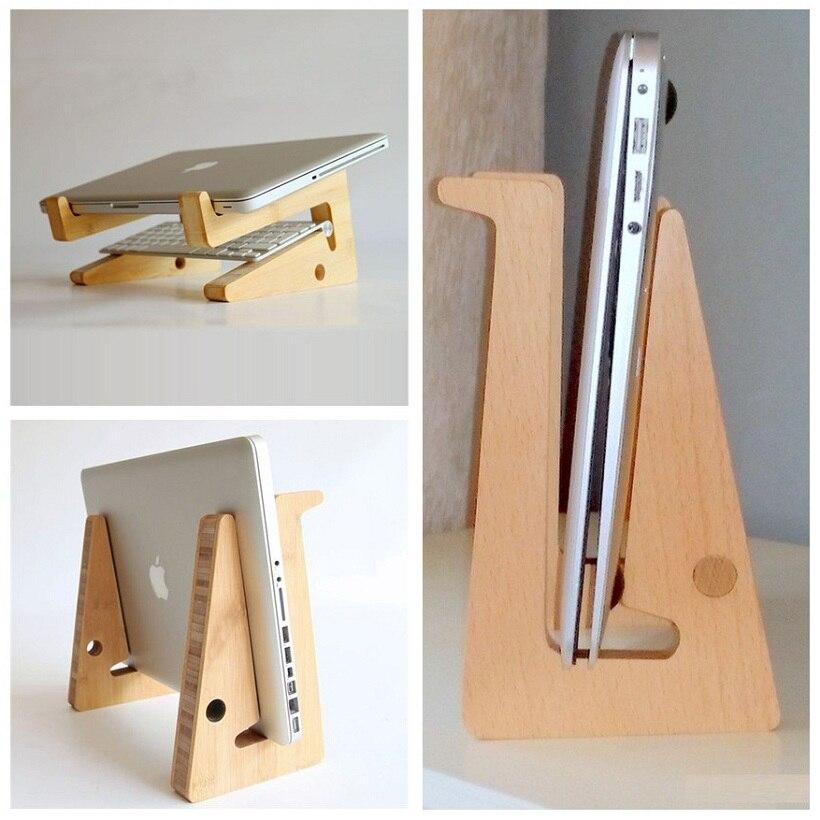 Le plus nouveau support en bois élégant de décor à la maison de mode pour MacBook Air/Pro thinkpad dell HP support en bois de bureau de bureau pour ordinateur portable