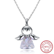New Guardian angel 2 Color Crystal from Swarovski Maxi Necklace Collier Wholesale Fashion Jewelry Name Bead