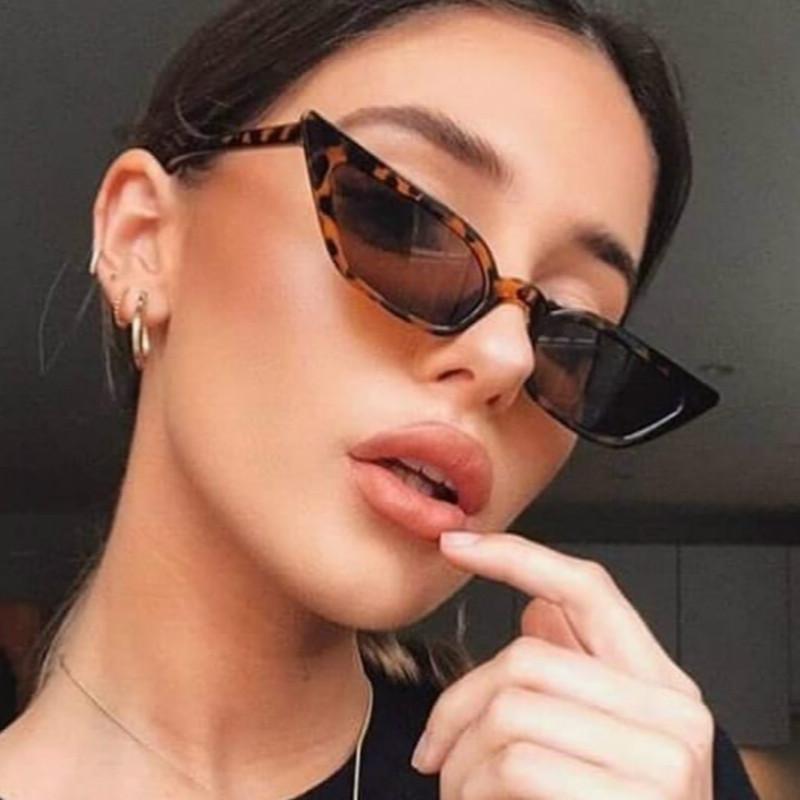 2020 New Women Cateye Vintage Red Sunglasses Brand Designer Retro Points Sun Glasses superstar Female Lady Eyeglass Cat Eye