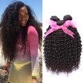 10a peruano Kinky Curly Virgem Cabelo 4 pcs de grau superior Não Transformados Peruano Virgem Cabelo Curly Weave Extensões de Cabelo Humano 100g